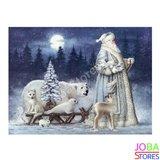 Diamond Painting Kerstman met slee 40x50cm_