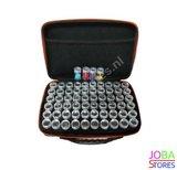 OP=OP Diamond Painting Luxe Bewaarkoffer 60 slots + toolkit en DMC stickers (Groen)_