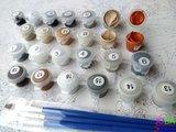 Schilderen op nummer Witte Tijger Familie 40x50cm_
