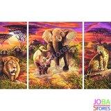 OP=OP Diamond Painting Afrika 3 luiks 80x50cm_