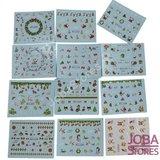 Nagel Sticker Set Kerst (44 vellen)_