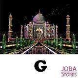 Kras Tekening Groot G (41x28cm) - Taj Mahal_