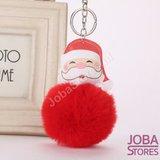 OP=OP Pom Pom Sleutelhanger Kerstman Rood_