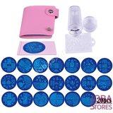 Nagellak Stempel Set (20 stempelplaten) inclusief opbergmap_