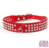 Honden Halsband Bling Rood L_