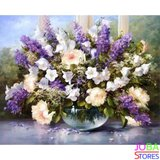 Schilderen op nummer Paarse Bloemen 40x50cm_