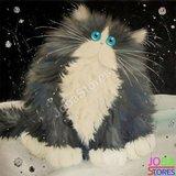 Diamond Painting Crazy Cats 12 30x30cm_