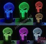 OP=OP 3D Illusie Lamp Punisher (7 kleuren instelbaar)_