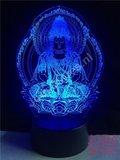 OP=OP 3D Illusie Lamp Indian Buddha (7 kleuren instelbaar)_