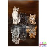 Diamond Painting Kittens-Big Cats 30x40cm_