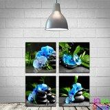 Diamond Painting Blauwe Orchidee 4 luiks_