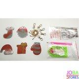 Diamond Painting Sleutelhanger Set Kerst 01 (5 stuks)_