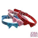 OP=OP Honden Halsband Ruitjes met strik Roze S_