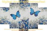 Diamond Painting Blauwe Vlinders 75x40cm_