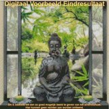 Diamond Painting Buddha in raam 30x30cm_