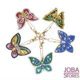 Diamond Painting Sleutelhanger Set Vlinders (5 stuks)_