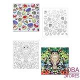 Kleurboeken voor volwassenen Set 1 (4 stuks)_