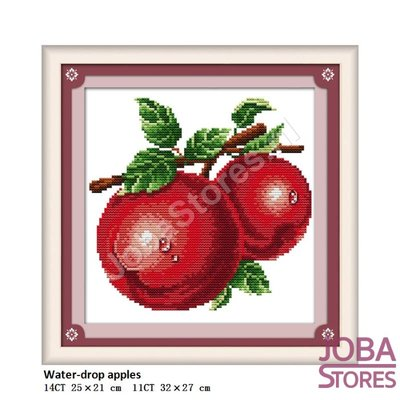 Borduur Pakket Fruit 02 14CT voorbedrukt (25x21cm)