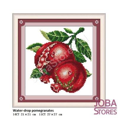 Borduur Pakket Fruit 04 14CT voorbedrukt (21x21cm)