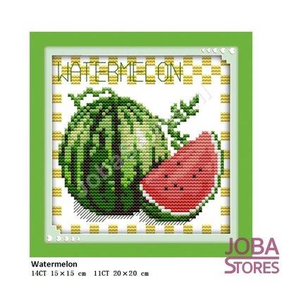 Borduur Pakket Fruit 06 11CT voorbedrukt (20x20cm)