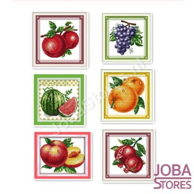 Borduur Pakketten Set Fruit 14CT (6 stuks)