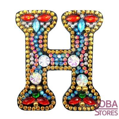 Diamond Painting Sleutelhanger Alfabet Letter H