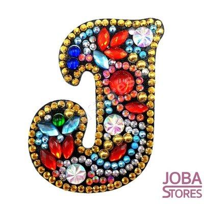 Diamond Painting Sleutelhanger Alfabet Letter J