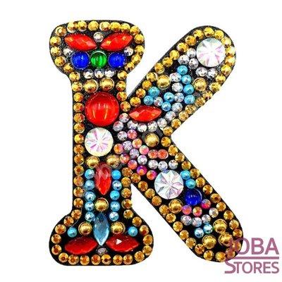 Diamond Painting Sleutelhanger Alfabet Letter K