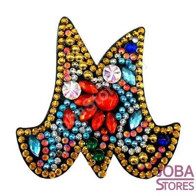 Diamond Painting Sleutelhanger Alfabet Letter M