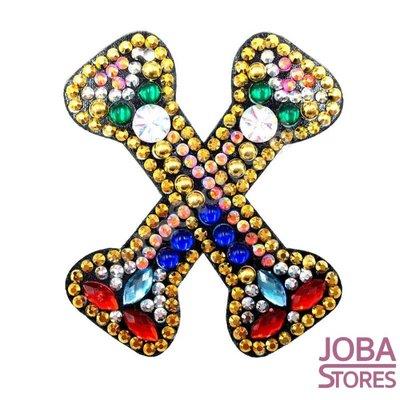 Diamond Painting Sleutelhanger Alfabet Letter X