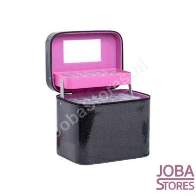 Diamond Painting Beautycase Bewaarkoffer 126 slots Zwart