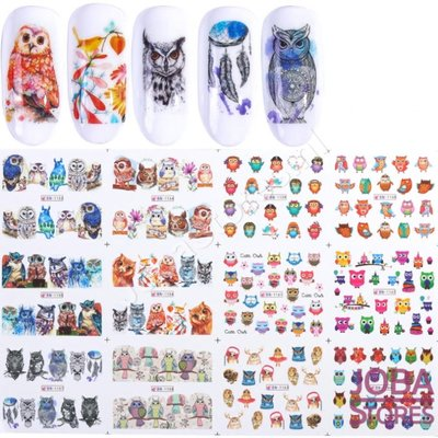 Nagel Sticker Set Uilen (192 stickers)