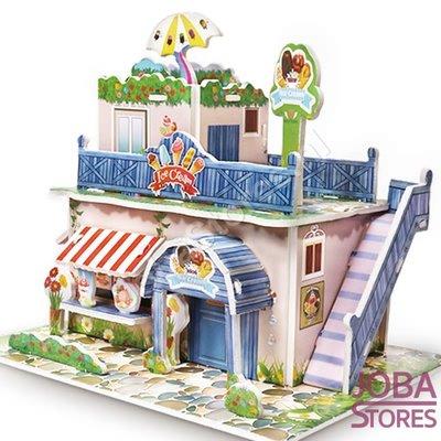 Miniatuur Zelfbouw Huisje (3D Puzzel) voor kinderen 02 (Ice Cream)