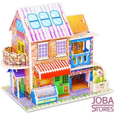 Miniatuur Zelfbouw Huisje (3D Puzzel) voor kinderen 03 (Flower Store)