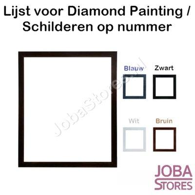 Diamond Painting / Schilderen op nummer Houten lijst voor 40x50cm (Zwart)