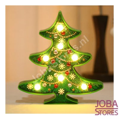Diamond Painting Lamp Kerstboom