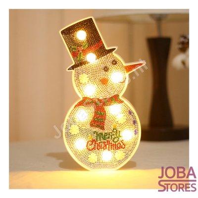 Diamond Painting Lamp Sneeuwpop