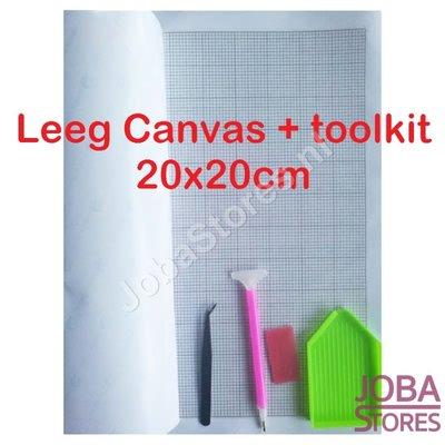 Diamond Painting Leeg Canvas + toolkit 20x20cm