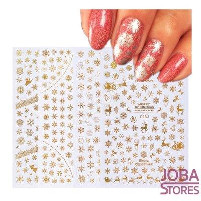 Nagel Sticker Set Sneeuw Goud