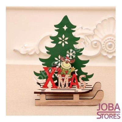 Houten Kerst Slee Xmas Rendier (S)