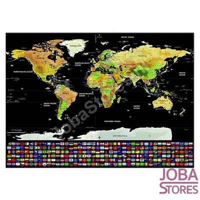 Kras Tekening Wereldkaart 02 30x40cm