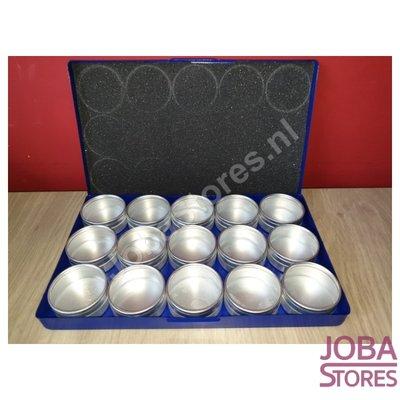 Diamond Painting Opbergbakjes Aluminium (15 potjes groot)