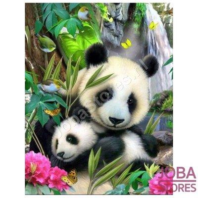 Diamond Painting Panda met jong 40x50cm