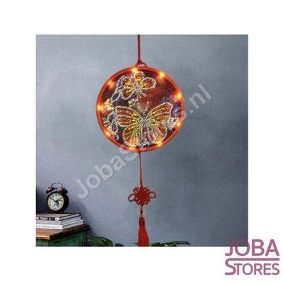 Diamond Painting Wandornament Vlinders met verlichting