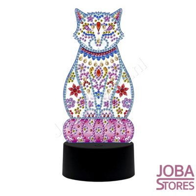 Diamond Painting 3D Illusie Lamp Kat