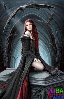 OP=OP Diamond Painting Vampier Vrouw 40x60cm