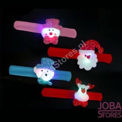 Klap Armband Kerst 02 met verlichting (set van 4 stuks)