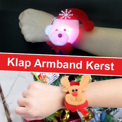 Klap Armband Kerst 01 met verlichting (set van 4 stuks)