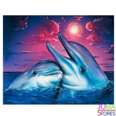 Diamond Painting Dolfijnen 40x30cm