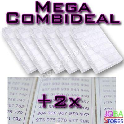Diamond Painting Sorteerdoos Mega Combideal 28 slots (6 stuks + 2x DMC stickers)